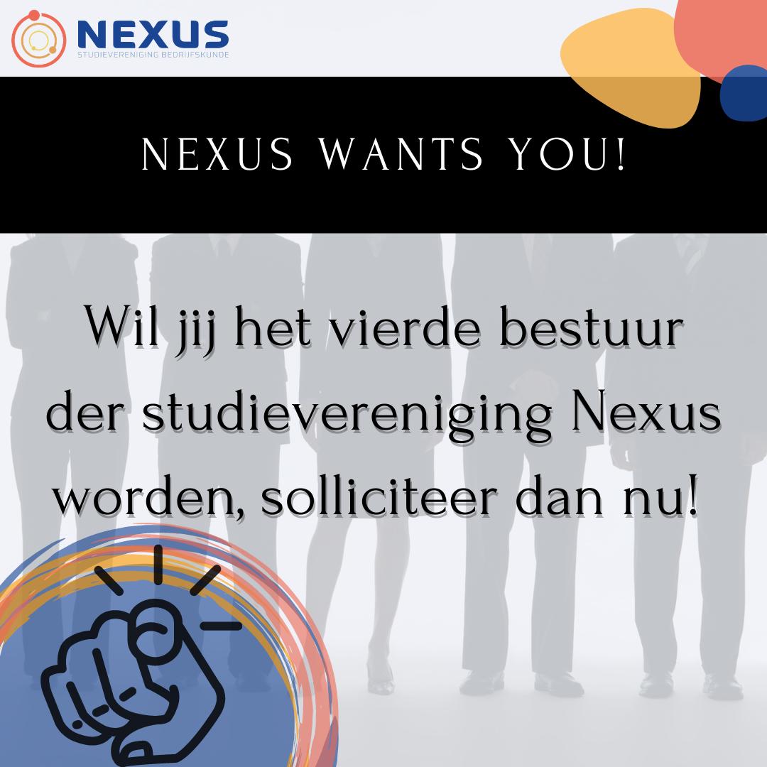 Solliciteren voor 4e bestuur sv Nexus