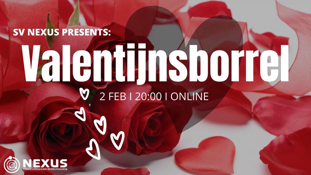 Online borrel: Valentijnsborrel