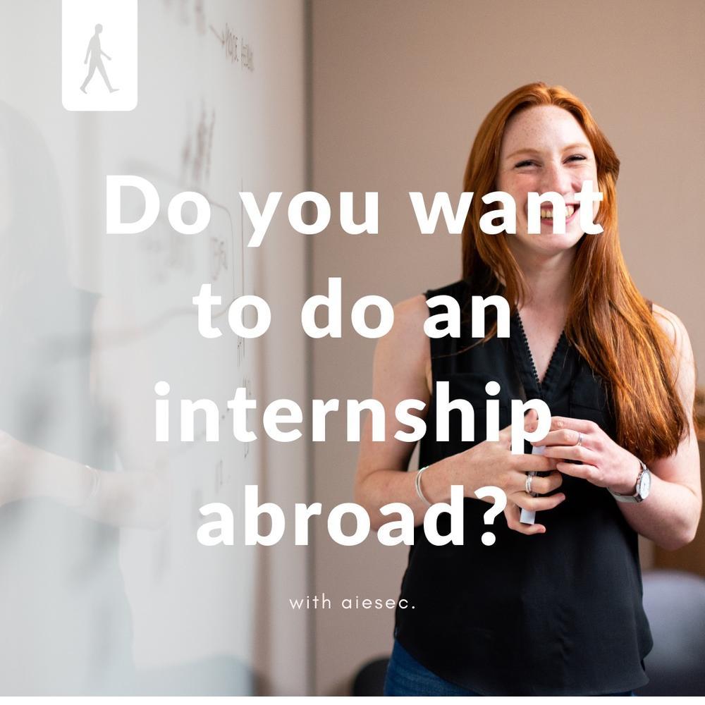 Do you want to do an internship abroad?
